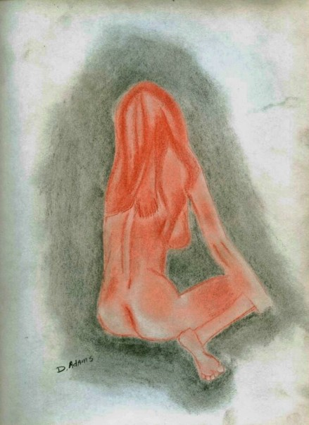 Woman's Backside II_Compressed Charcoal_dja_2007-3