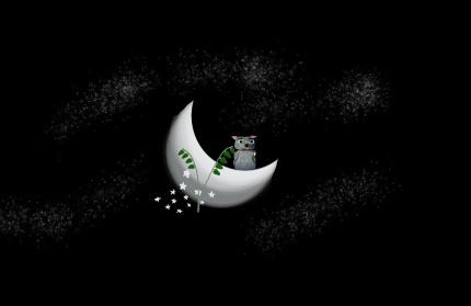 O_Binky on the Moon