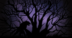 O_Darkness of Night_Silhouette _tree_werewolf_dja_07-25-2012