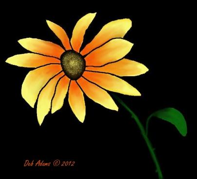 L_Sunflower_digital painting_7-1-2012