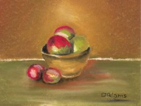 L_Miss Charlotte's Clay Bowl of Apples