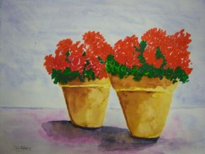 L_Potted Geraniums
