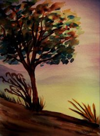 P_Autumn Tree_watercolors_dja_8-5-2012