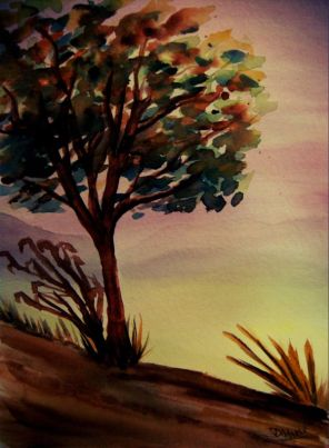 P_Autumn Tree_watercolors_dja_8-5-2012