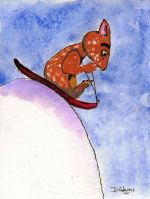 P_Fraz Bunny Slope Sledding_watercolors_7-8-2012