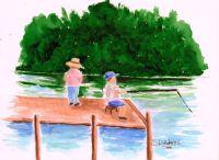 L_Just Fishin'#2_watercolors_da_9-13-2012