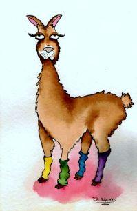 P_Leg Warmer Llama