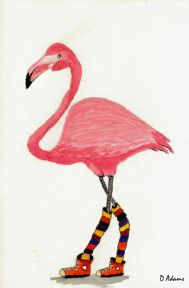 P_Pink Flamingo_watercolors_da_8-28-2012-2