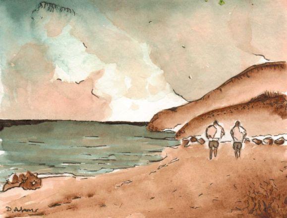 L_Shoreline Stroll_watercolors_da_8-12-2012