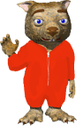 Dink in Red PJ's