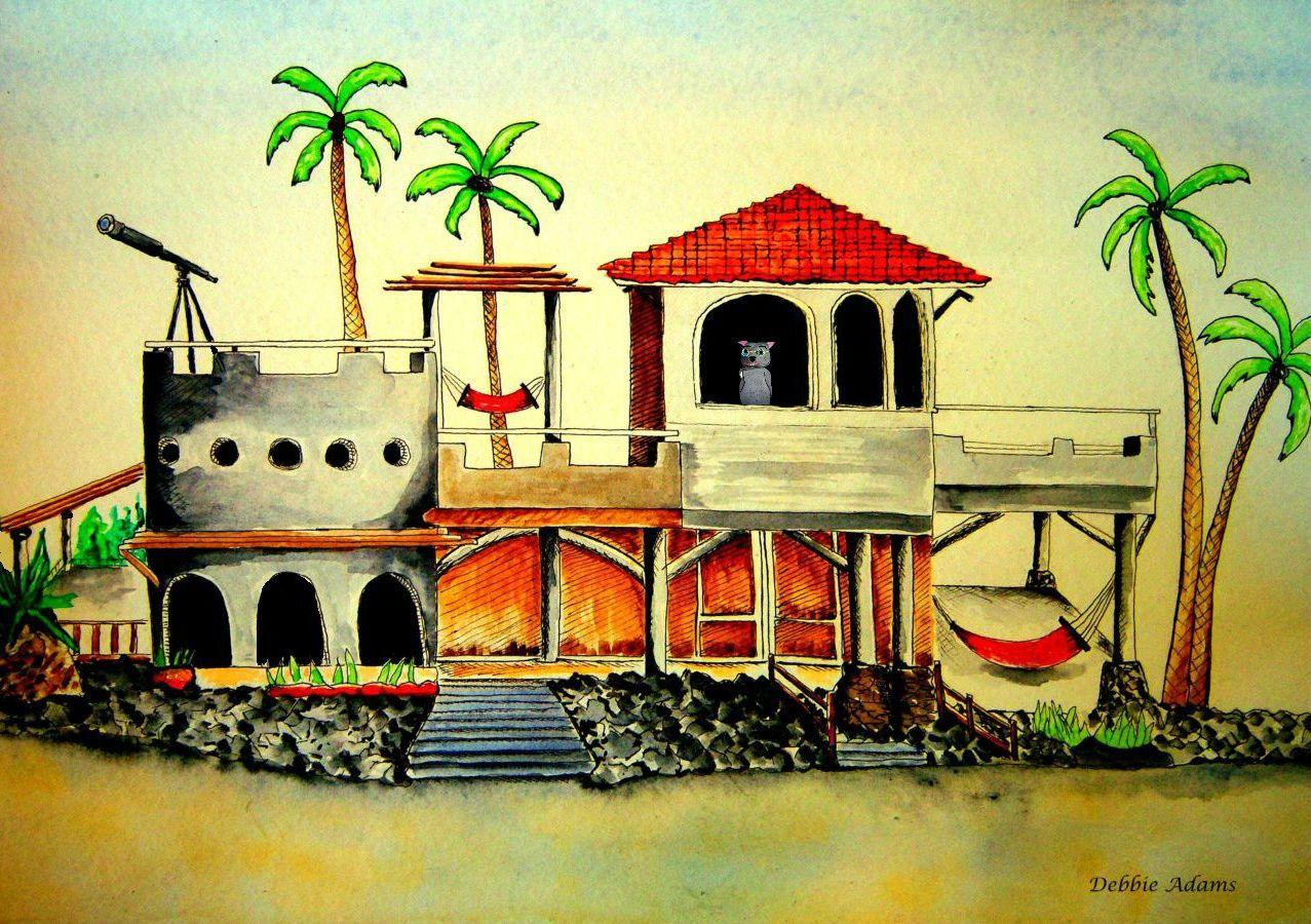 Poor Shack Clipart Binky's hacienda beach house