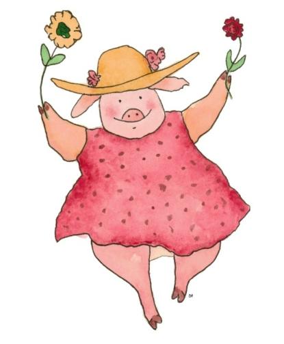 Dancing Pig-watercolor-da-2012-12-08-trans-2-resized