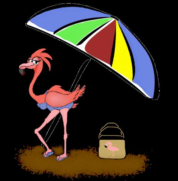 Pink Flmingo-unbrella-flamingo bag-sand