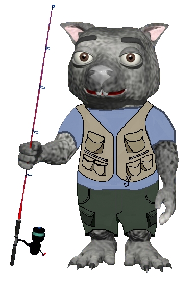 Shadow-fishing pole-cargo pants-fishing vest