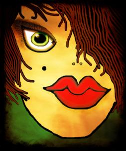 Abstract-girl-mop head-2013-05-16