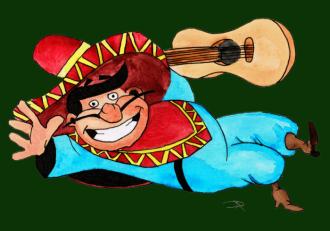 Mexican cartoon-watercolor-2013-05-05-green back - Copy