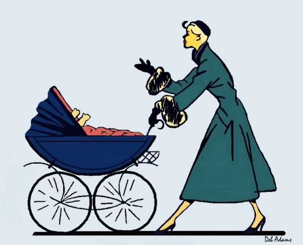 1950's-Woman-baby-stroller - Copy-signed - Copy