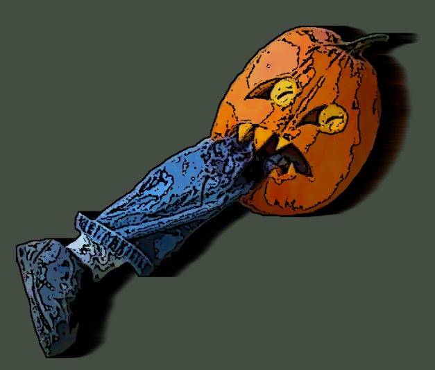 Halloween-pumkin-leg-background