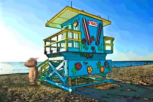 FotoSketcher - wombie-fraz-life-gaurd-station-peter-helped-me-2