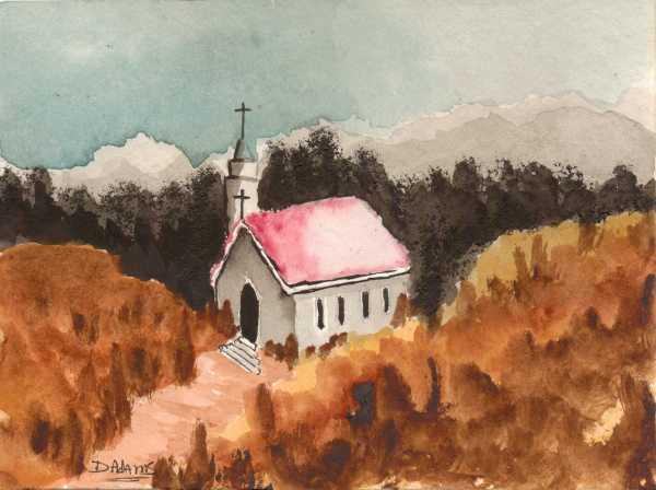 Country Church#2 _watercolors_da_9-9-2012 - Copy