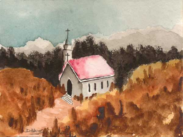 Country Church#2 _watercolors_da_9-9-2012 - Copy
